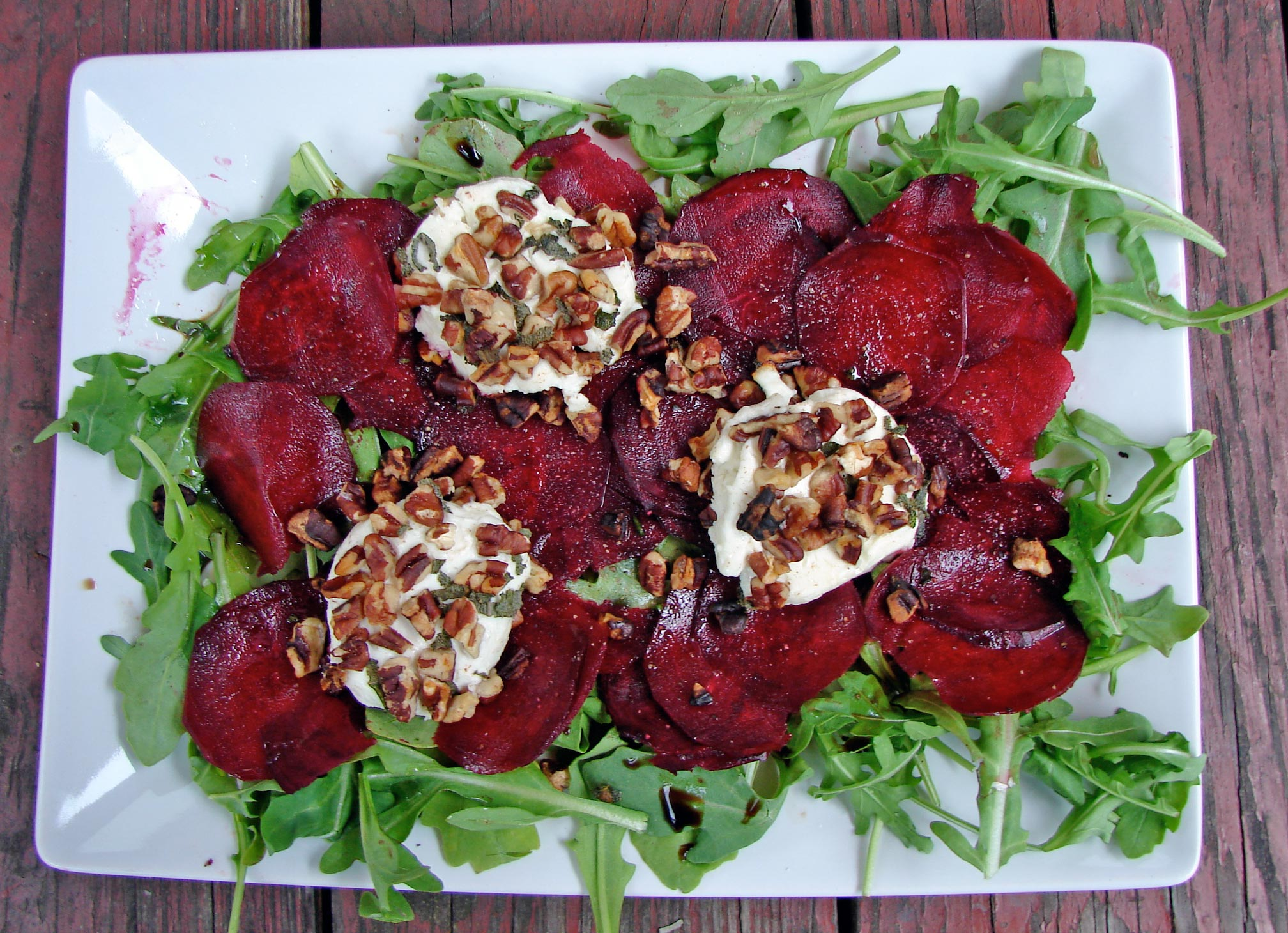 with goat crimson beet carpaccio beets with goat cheese arugula beet ...