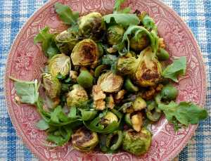 Brussel sprouts and castelvetrano olives