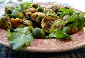 Salad of warm brussel sprouts