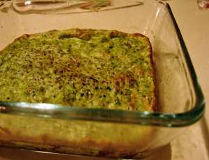 Cauliflower, spinach and tarragon souffle