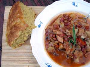 Red bean and tarragon stew
