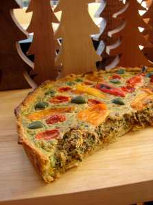 Pepper and olive tart