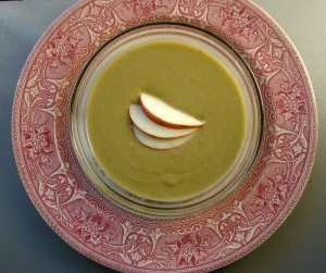 Spinach apple soup