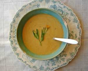Butternut and white bean soup