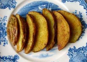 Curried crispy potatoes