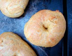 Pumpkin bagel