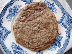 Almond, hazelnut chocolate cookie