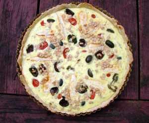 Brie & castelvetrano tart