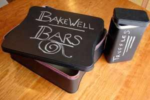 Chalkboard tins
