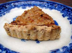 Walnut-crusted parsnip tart