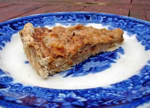 Parsnip tart with a walnut crust