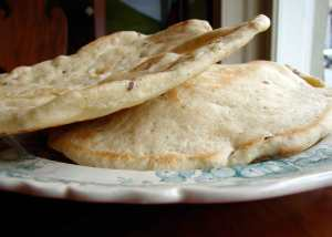za'atar flavored pita bread