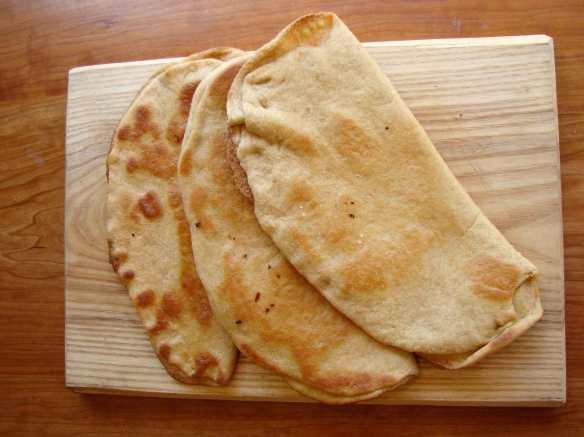 Whole wheat flatbread