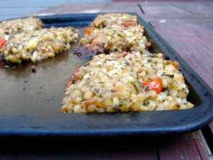 Kale & couscous croquettes