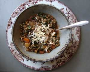 French lentil barley stew