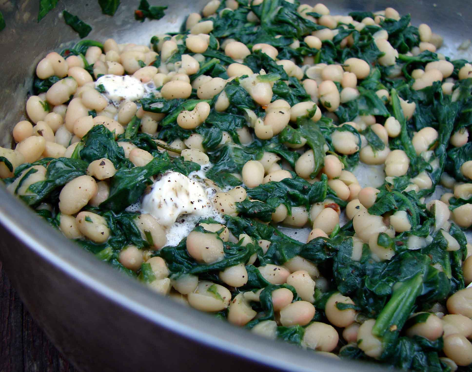 Sauteed Spinach With White Beans And Pine Nuts Recipes — Dishmaps