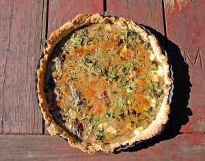 Arugula and balsamic tart