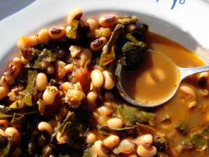 Collards and black-eyed peas
