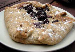 blackberry and chocolate chip galette