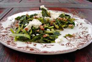 broccoli rabe, pecans and french feta