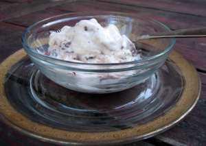 Chocolate-covered strawberry ice cream