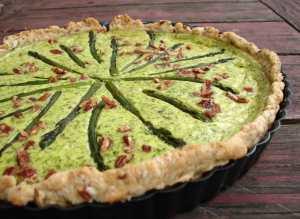 Asparagus pecan tart