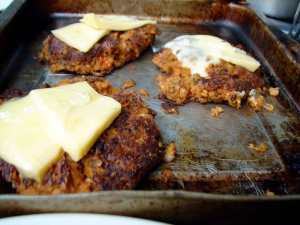 Couscous and french lentil burgers