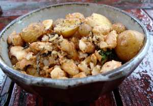 Potatoes, butter beans and savory