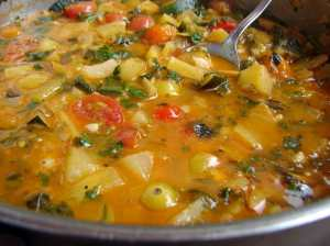 summery sauce with lemon, basil, and ginger