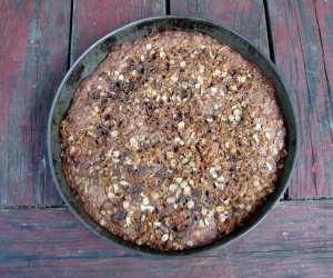Chocolate oatmeal crisp cake