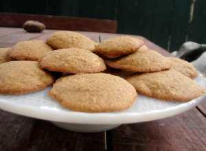 Cornmeal almond cinnamon cookies