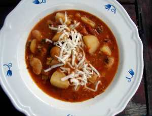 Leek, potato and butterbean stew