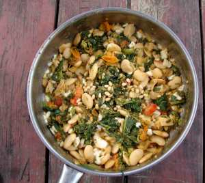 Broccoli rabe and butter beans