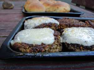 Chard and bulgur burgers