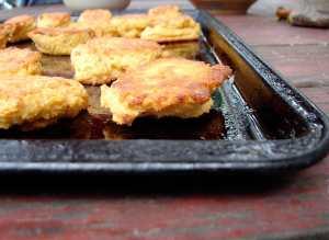 Chickpea and semolina flour dumplings