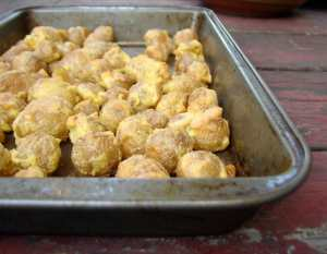 Cornmeal crusted roasted potatoes