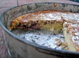 Almond-ricotta jam cake