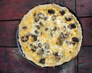 Tomme de savoie and mushroom tart