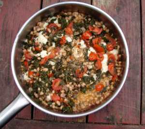 Kale white beans and tomatoes