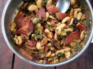 Roasted beets, mushrooms and butterbeans