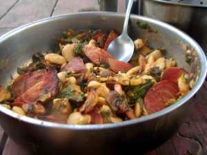 Roasted mushrooms, beets, and butterbeans