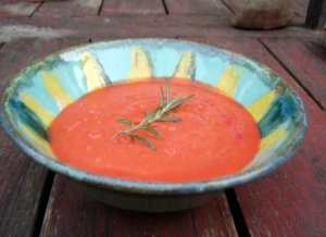 Sunshine pink soup
