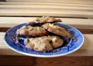 Caramel apple chocolate chip cookies