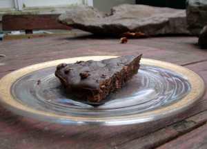 Isaac's chocolate chocolate pecan cake