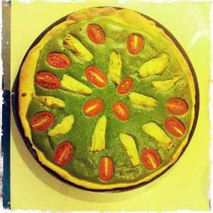 Hazelnut spinach tart