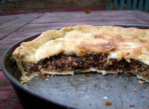 Lentil chard and pecan pie