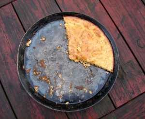 Peppery chickpea flour flatbread