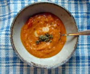 Roasted butternut and butterbean soup