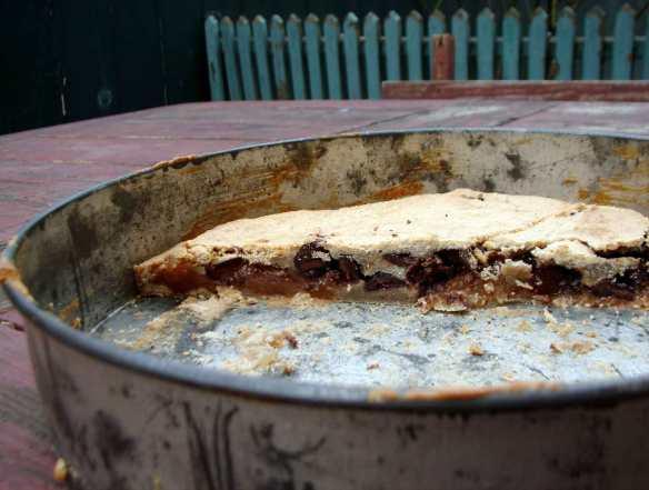 Quince, chocolate and hazelnut cake