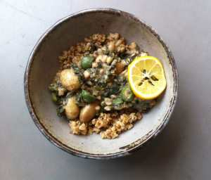 potato, olive, white bean and meyer lemon stew